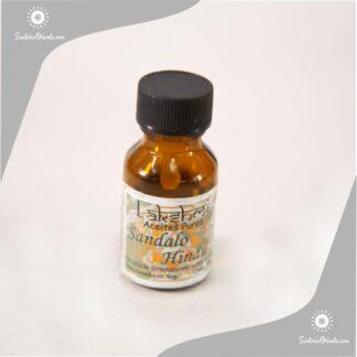 Aceite de Sandalo hindu puro en botella de 10 cc