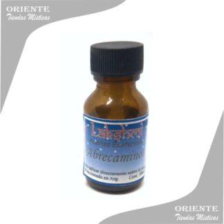aceites abrecaminos puro de 10 cc en botella color caramelo